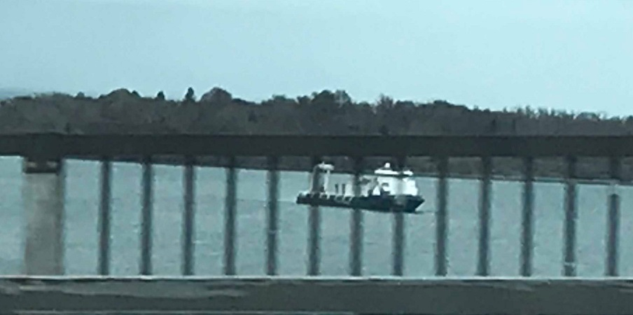 Fugro Ship Jamestown West Passsage 22 Apr 2019 fm Bridge